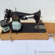 Antigüedades: MAQUINA DE COSER ANTIGUA ALFA ELÉCTRICA CON PEDAL. Lote 37358650