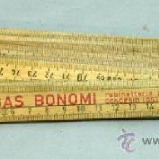 Antigüedades: METRO MADERA PLEGABLE PUBLICIDAD ENOL GAS BONOMI MADE IN ITALY AÑOS 50 - 60. Lote 37254092