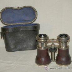 Antigüedades: PRISMÁTICOS HÍPICA (1920). JOCKEY CLUB. DE PIEL Y METAL.. Lote 37318003