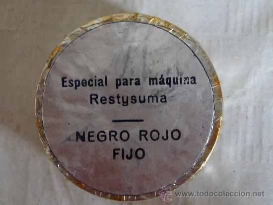 Antigüedades: rollo cinta maquina de escribir para restysuma negro rojo fijo marca ban-lon 69 - Foto 2 - 37266565