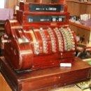 Antigüedades: ANTIGUA REGISTRADORA NATIONAL PINTURA MADERA FUNCIONANDO PERFECTAMENTE LEER NUEVA DESCRIPCION. Lote 46699121