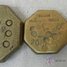 Antigüedades: CONJUNTO DE TRES PESAS. MALLORCA.. Lote 37298499