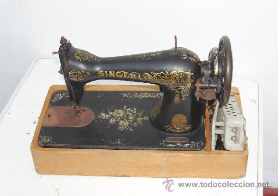 Singer- antigua maquina de coser con motor elec - Vendido