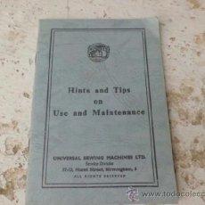 Antiquités: MANUAL DE ISTRUCCIONES DE MAQUINA DE COSER EN INGLES MA-9. Lote 37308668