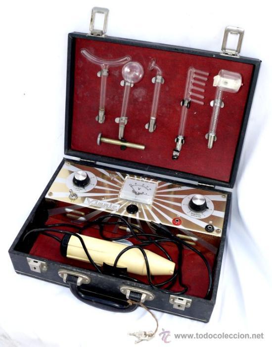 Antigüedades: ANTIGUO APARATO MEDICO MILLAS VIONIC ELECTROTERAPIA AÑOS 60 . CALLE PATRIARCA VALENCIA - Foto 2 - 37325714