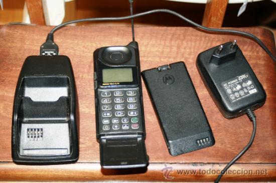 TELEFONO MIVIL 1ª GENERACION MOTOROLA MICRO T-A-C ELITE CON BATERIA BATERIA DE REPUESTO Y CARGADOR (Antigüedades - Técnicas - Teléfonos Antiguos)