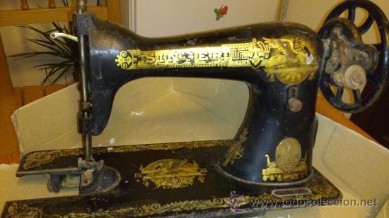 MAQUINA DE COSER SINGER - ESFINGE EGIPCIA (Antigüedades - Técnicas - Máquinas de Coser Antiguas - Singer)