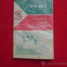 Antigüedades: MANUAL DE INSTRUCCIONES MAQUINA DE COSER SINGER MA-12. Lote 37419821