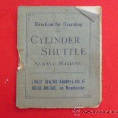 Antiquités: MANUAL DE INSTRUCCIONES MAQUINA DE COSER CYLINDER SHUTTLE MA-15. Lote 37419900