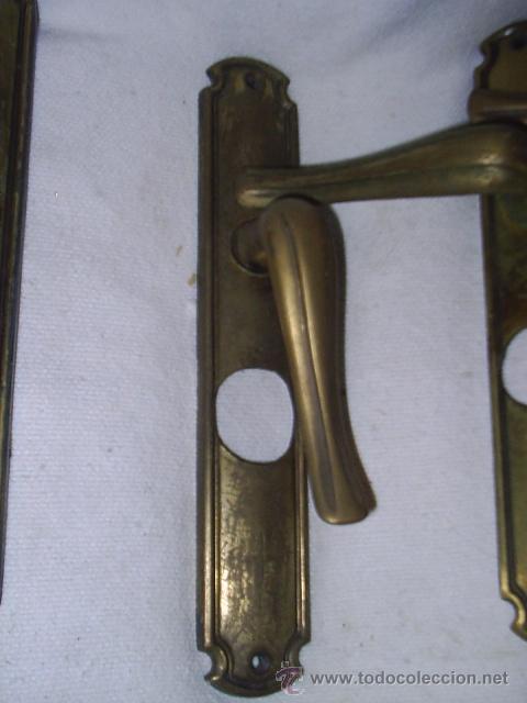 5 antiguas manillas o tiradores de puertas de b comprar tiradores antiguos en todocoleccion - Manillas puertas antiguas ...