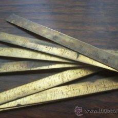 Antigüedades: METRO DE METAL ANTIGUO. Lote 37562087