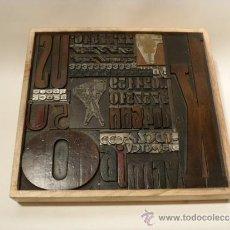 Antigüedades: LETRAS IMPRENTA MADERA. TIPOGRAFÍA EN MADERA Y PLOMO. MONTAJE ARTISTICO.. Lote 138596245