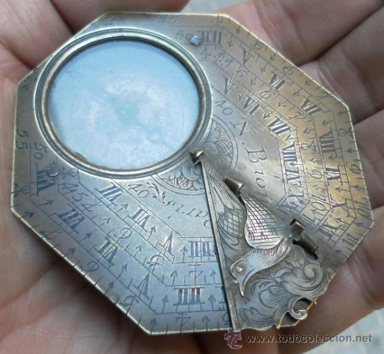 Antigüedades: Brújula reloj de sol, meridiano. De Nicolas Bion. Siglo XVIII. - Foto 19 - 37688865