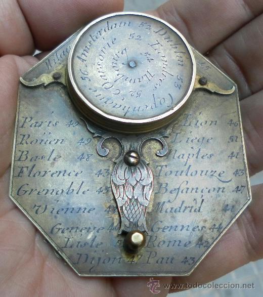 Antigüedades: Brújula reloj de sol, meridiano. De Nicolas Bion. Siglo XVIII. - Foto 17 - 37688865
