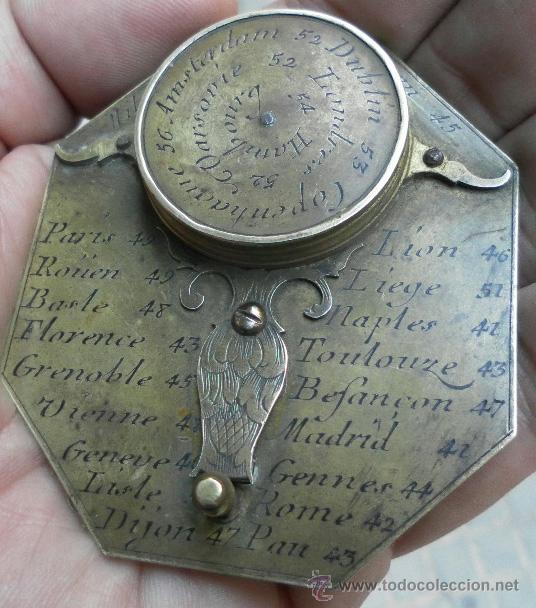 Antigüedades: Brújula reloj de sol, meridiano. De Nicolas Bion. Siglo XVIII. - Foto 16 - 37688865