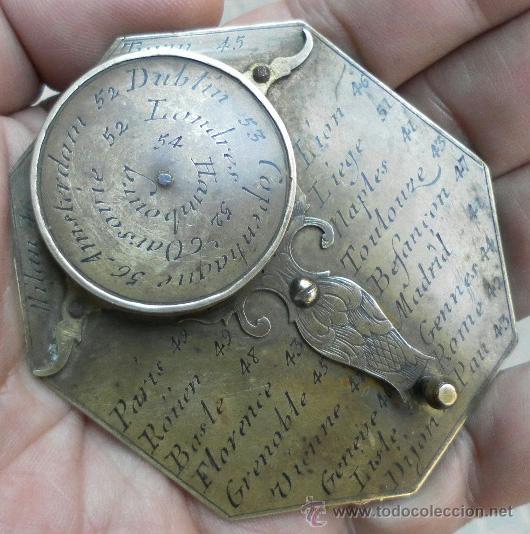 Antigüedades: Brújula reloj de sol, meridiano. De Nicolas Bion. Siglo XVIII. - Foto 14 - 37688865