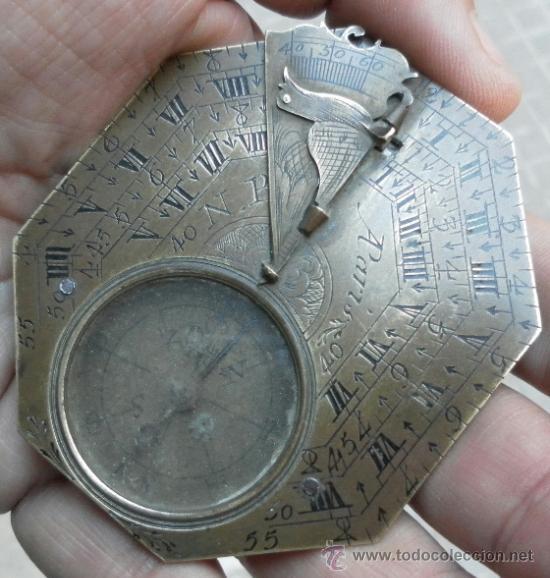 Antigüedades: Brújula reloj de sol, meridiano. De Nicolas Bion. Siglo XVIII. - Foto 12 - 37688865