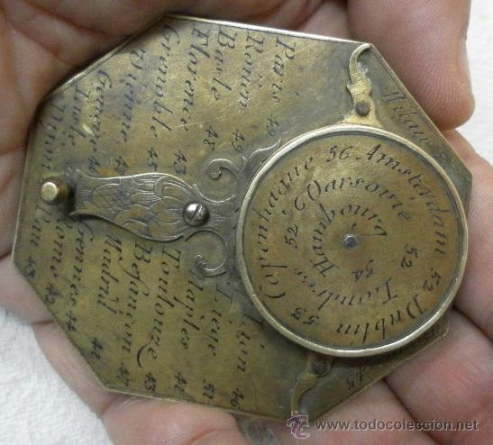 Antigüedades: Brújula reloj de sol, meridiano. De Nicolas Bion. Siglo XVIII. - Foto 8 - 37688865