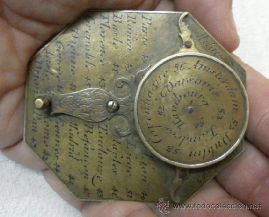 Antigüedades: Brújula reloj de sol, meridiano. De Nicolas Bion. Siglo XVIII. - Foto 7 - 37688865