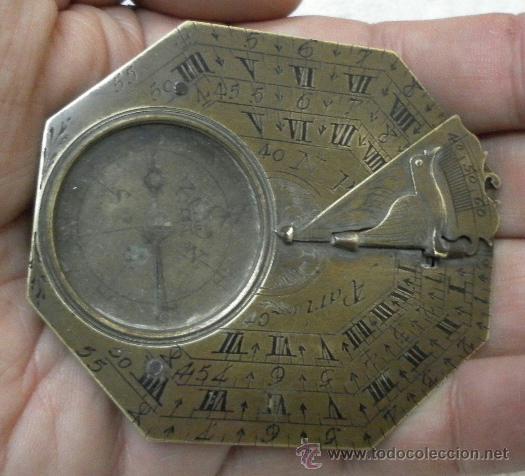 Antigüedades: Brújula reloj de sol, meridiano. De Nicolas Bion. Siglo XVIII. - Foto 5 - 37688865