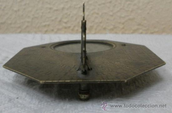 Antigüedades: Brújula reloj de sol, meridiano. De Nicolas Bion. Siglo XVIII. - Foto 25 - 37688865