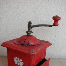 Antigüedades: MOLINILLO DE CAFE ELMA ROJO. Lote 37541746