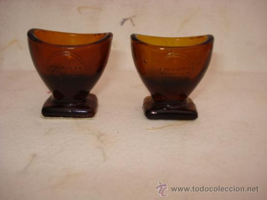 ANTIGUOS VASITOS PARA APLICAR COLIRIOS EN LOS OJOS DE COLLADO , SIN USAR AÑO 1920S. (Antigüedades - Técnicas - Otros Instrumentos Ópticos Antiguos)