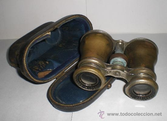 Antigüedades: Bonitos Prismaticos Antiguos (CHEVALIER OPTICIEN - PARIS), con funda de piel - Foto 2 - 37590496