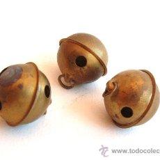 Antigüedades: VEINTE CASCABELES DE LATÓN. Lote 37595812