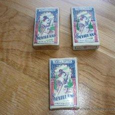 Antigüedades: 3 PAQUETES DE 10 CUCHILLAS DE AFEITAR. MARCA SEVILLANA. SIN ABRIR. AÑOS 70. ENVIO GRATIS. Lote 37660031