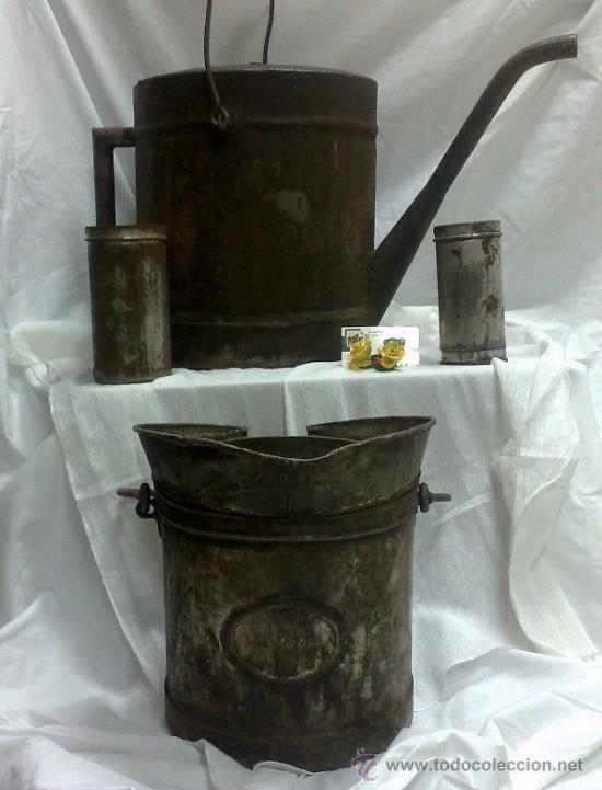 Antigüedades: 1ª 1/2 XX-S. LOTE DE RECIPIENTES PARA DISPENSAR CARBURANTE , PROCEDENTES DE ANTIGUA GASOLINERA. - Foto 45 - 37720549