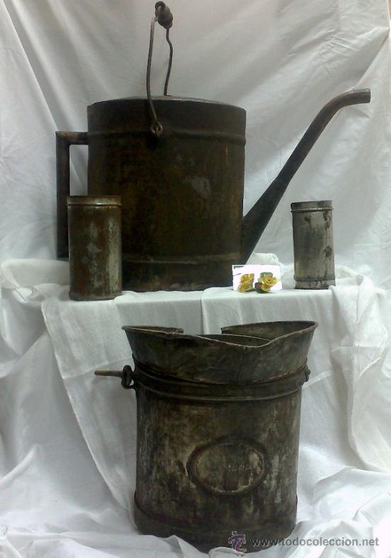 Antigüedades: 1ª 1/2 XX-S. LOTE DE RECIPIENTES PARA DISPENSAR CARBURANTE , PROCEDENTES DE ANTIGUA GASOLINERA. - Foto 2 - 37720549