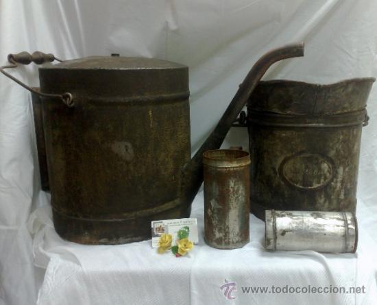 Antigüedades: 1ª 1/2 XX-S. LOTE DE RECIPIENTES PARA DISPENSAR CARBURANTE , PROCEDENTES DE ANTIGUA GASOLINERA. - Foto 38 - 37720549
