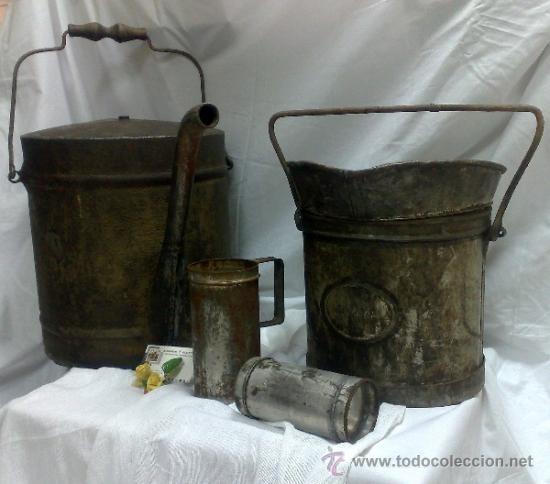 Antigüedades: 1ª 1/2 XX-S. LOTE DE RECIPIENTES PARA DISPENSAR CARBURANTE , PROCEDENTES DE ANTIGUA GASOLINERA. - Foto 5 - 37720549