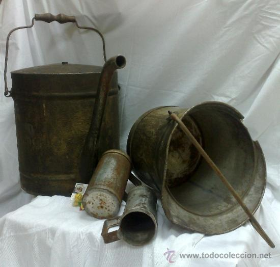 Antigüedades: 1ª 1/2 XX-S. LOTE DE RECIPIENTES PARA DISPENSAR CARBURANTE , PROCEDENTES DE ANTIGUA GASOLINERA. - Foto 6 - 37720549