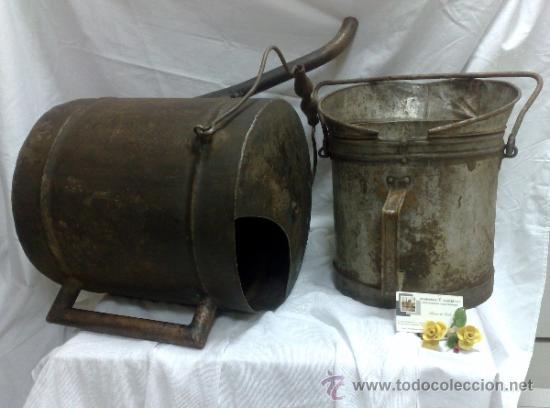 Antigüedades: 1ª 1/2 XX-S. LOTE DE RECIPIENTES PARA DISPENSAR CARBURANTE , PROCEDENTES DE ANTIGUA GASOLINERA. - Foto 27 - 37720549