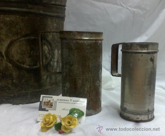 Antigüedades: 1ª 1/2 XX-S. LOTE DE RECIPIENTES PARA DISPENSAR CARBURANTE , PROCEDENTES DE ANTIGUA GASOLINERA. - Foto 28 - 37720549
