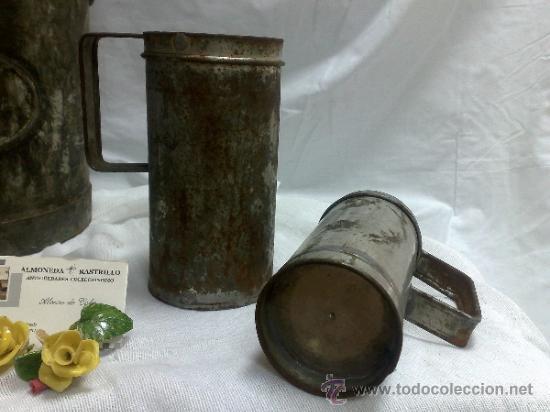 Antigüedades: 1ª 1/2 XX-S. LOTE DE RECIPIENTES PARA DISPENSAR CARBURANTE , PROCEDENTES DE ANTIGUA GASOLINERA. - Foto 32 - 37720549