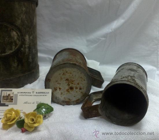Antigüedades: 1ª 1/2 XX-S. LOTE DE RECIPIENTES PARA DISPENSAR CARBURANTE , PROCEDENTES DE ANTIGUA GASOLINERA. - Foto 33 - 37720549