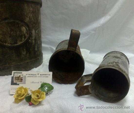 Antigüedades: 1ª 1/2 XX-S. LOTE DE RECIPIENTES PARA DISPENSAR CARBURANTE , PROCEDENTES DE ANTIGUA GASOLINERA. - Foto 34 - 37720549