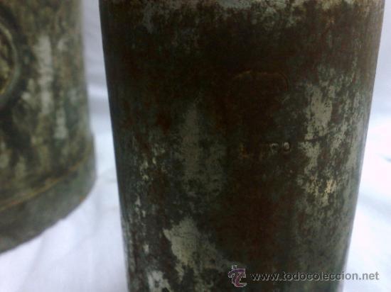 Antigüedades: 1ª 1/2 XX-S. LOTE DE RECIPIENTES PARA DISPENSAR CARBURANTE , PROCEDENTES DE ANTIGUA GASOLINERA. - Foto 35 - 37720549