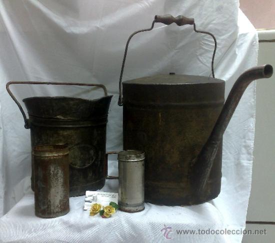 Antigüedades: 1ª 1/2 XX-S. LOTE DE RECIPIENTES PARA DISPENSAR CARBURANTE , PROCEDENTES DE ANTIGUA GASOLINERA. - Foto 26 - 37720549