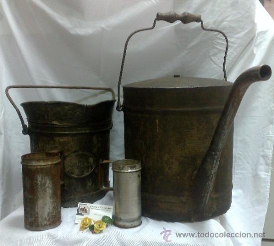 Antigüedades: 1ª 1/2 XX-S. LOTE DE RECIPIENTES PARA DISPENSAR CARBURANTE , PROCEDENTES DE ANTIGUA GASOLINERA. - Foto 46 - 37720549