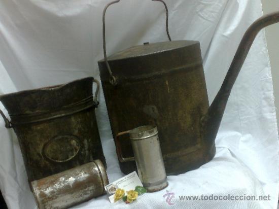 Antigüedades: 1ª 1/2 XX-S. LOTE DE RECIPIENTES PARA DISPENSAR CARBURANTE , PROCEDENTES DE ANTIGUA GASOLINERA. - Foto 42 - 37720549