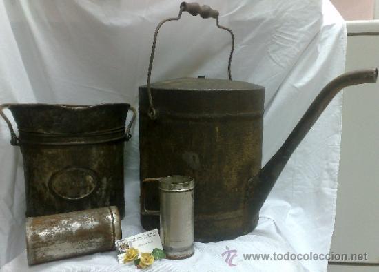 Antigüedades: 1ª 1/2 XX-S. LOTE DE RECIPIENTES PARA DISPENSAR CARBURANTE , PROCEDENTES DE ANTIGUA GASOLINERA. - Foto 41 - 37720549