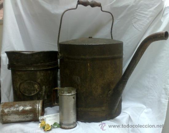Antigüedades: 1ª 1/2 XX-S. LOTE DE RECIPIENTES PARA DISPENSAR CARBURANTE , PROCEDENTES DE ANTIGUA GASOLINERA. - Foto 40 - 37720549