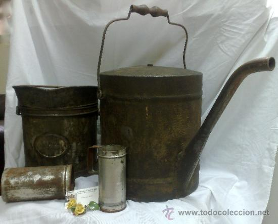 Antigüedades: 1ª 1/2 XX-S. LOTE DE RECIPIENTES PARA DISPENSAR CARBURANTE , PROCEDENTES DE ANTIGUA GASOLINERA. - Foto 37 - 37720549