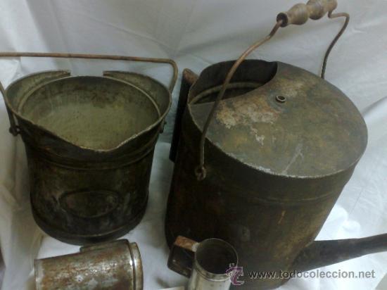 Antigüedades: 1ª 1/2 XX-S. LOTE DE RECIPIENTES PARA DISPENSAR CARBURANTE , PROCEDENTES DE ANTIGUA GASOLINERA. - Foto 39 - 37720549