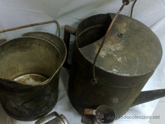 Antigüedades: 1ª 1/2 XX-S. LOTE DE RECIPIENTES PARA DISPENSAR CARBURANTE , PROCEDENTES DE ANTIGUA GASOLINERA. - Foto 44 - 37720549