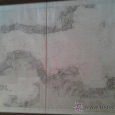 Antigüedades: 1879 COSTA OCCIDENTAL DE INGLATERRA CANAL DE BRISTOL 106 X 73 CM. ENMARCADO. Lote 37744289